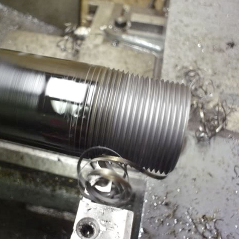 Black and Galvanized Pipe cutting/threading